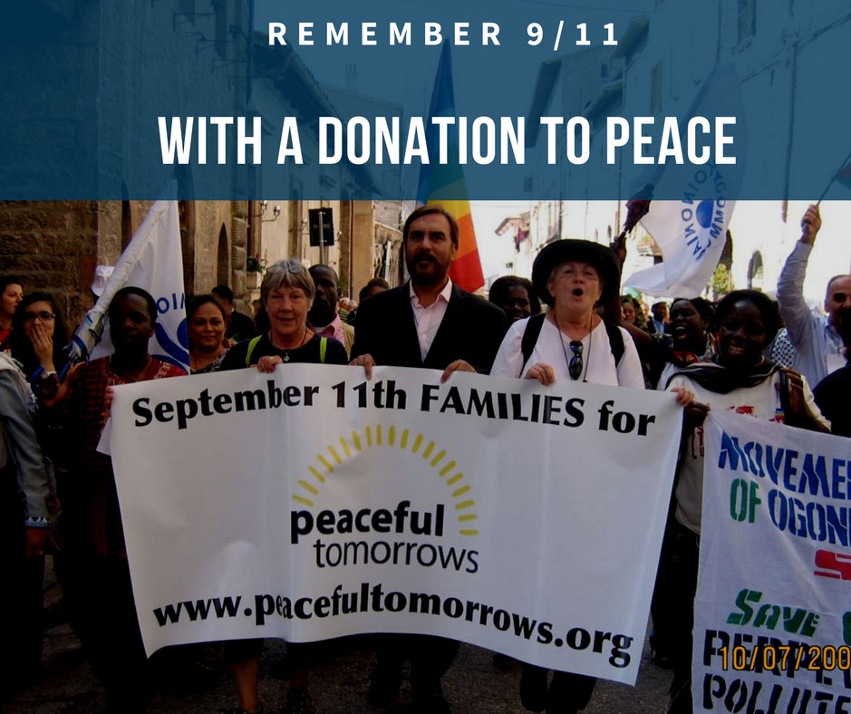 Remember 9/11 with a donation to peace