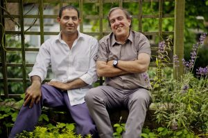 Bassam Aramim (left) with Rami Elhanan (right)